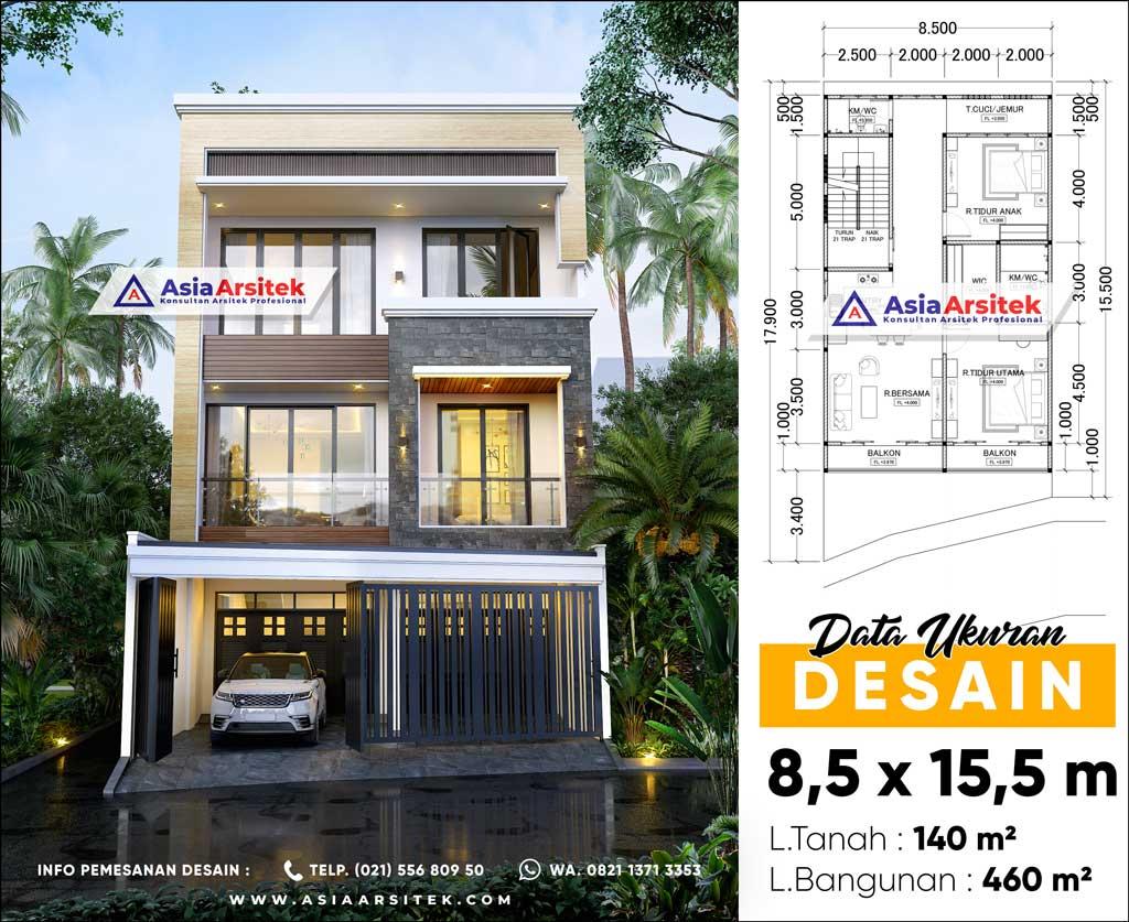 Jasa Desain Arsitek Gambar Rumah Minimalis 4 Lantai di Kota Jakarta Barat