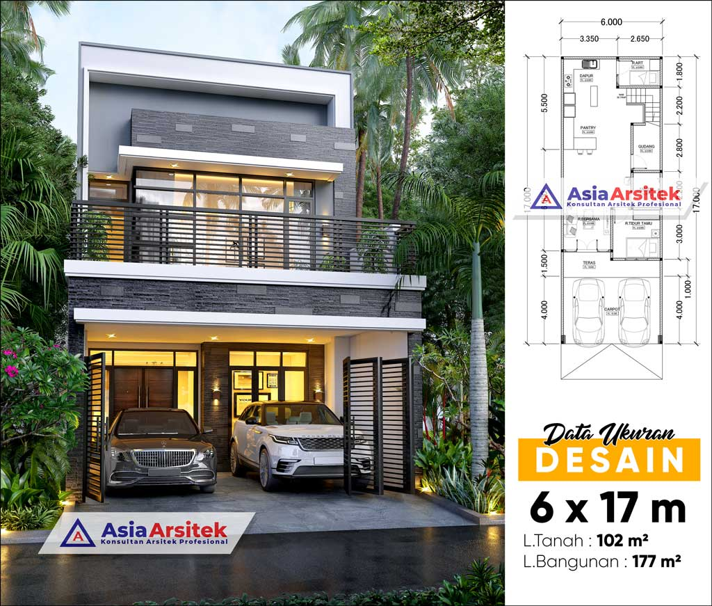 Jasa Arsitek Desain Rumah Minimalis 2 Lantai di Alam Sutera Tangerang