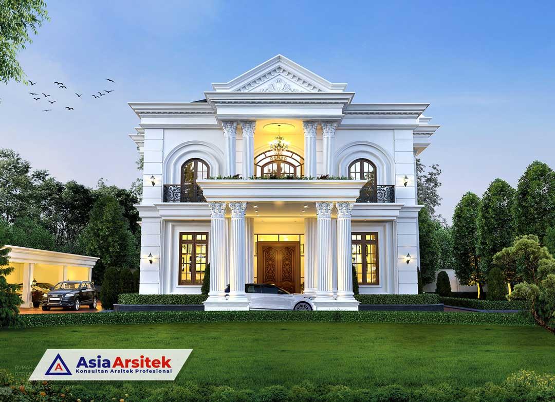 Jasa Arsitek Desain Rumah Klasik Mewah 2 Lantai di Makassar Sulawesi Selatan