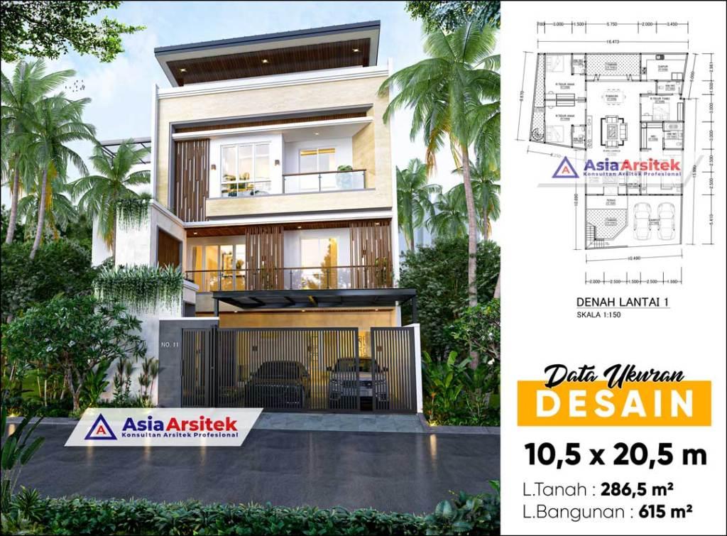 Jasa Arsitek Desain Rumah Minimalis Modern 3 Lantai di Pancoran Jakarta Selatan