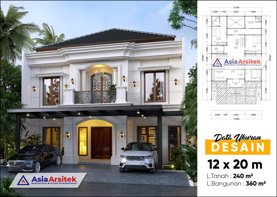 Jasa Arsitek Desain Rumah Tropis 2 Lantai di Alam Sutera Tangerang