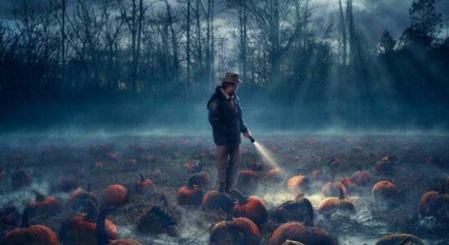 hopper & pumpkins