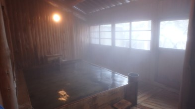 Inside private onsen