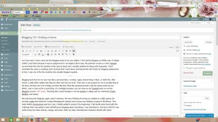 WordPress Backend...not hard, but still takes a bit of know how to navigate what things mean.
