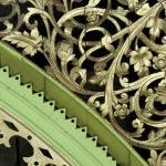 Wooden fretwork, second floor, Patail Building, Bo Sun Pat Street, Yangon