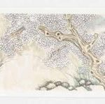 The Village and Its Ghosts (2014) by Yun-Fei Ji, ink and watercolour on xuan paper, 34.3 x 18.1 metres. Courtesy of the artist and James Cohan, New York © Yun-Fei Ji