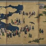 Southern Barbarians Come to Trade, Kano Naizen, about 1600, Japanese