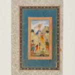 Jesus being crucified, illustration to the Mirror of Holiness, Mughal India, Allahabad, around 1602-4, gouache and gold on paper, Asian Civilisations Museum