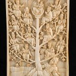Plaque: Tree of Jesse, Ceylon (Sri Lanka), around 1600, ivory, Asian Civilisations Museum