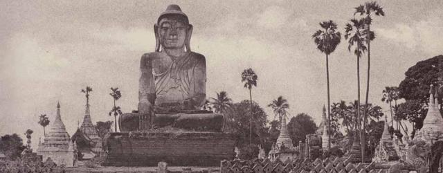 Amerapoora: Colossal Statue of Gautama Close to the North End of the Wooden Bridge, 1855, 24.7 x 33.3 cm