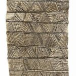 Tapa cloth made from hiapo bark (mulberry tree), South Pacific, 19th century, 198 x 123 cm. Völkerkundemuseum der Universität Zürich © Photo: Kathrin Leuenberger