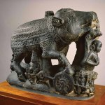 Sculpture of Varaha the boar avatar of Vishnu, 850-950 AD, Bihar, East India. Photo: © Ashmolean Museum, University of Oxford