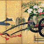 Flower Carts, Artist Unknown, Japanese, 19th century, screens; ink and colour on gold-leafed paper. Museum of Fine Arts, Boston. William Sturgis Bigelow Collection. Photograph © Museum of Fine Arts, Boston