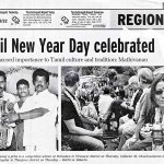 In the newspapers. Claire Scobie in the back of a bullock cart during Pongal in South India