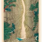 Elizabeth Keith, Scottish, 1887–1956 Nine Dragon Pool, Diamond Mountains 1922, woodblock print, ink and colour on paper, image 36.2 × 17.5 cm, lent by Jordan Schnitzer Museum of Art, University of Oregon