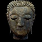 Head of Buddha Sakyamuni, Thailand, Kingdom Lan Na, Chieng Sen, 15th century, Ger Eenens Collection The Netherlands/Wereldmuseum Rotterdam. Photo: Erik en Petra Hesmerg