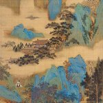 The Emperor Guangwu Fording a River by Qiu Ying, Ming dynasty, circa 1534-42, hanging scroll, ink and colours on silk, 67 1/2 × 26 inches, National Gallery of Canada, Ottawa, courtesy National Gallery of Canada, Ottawa