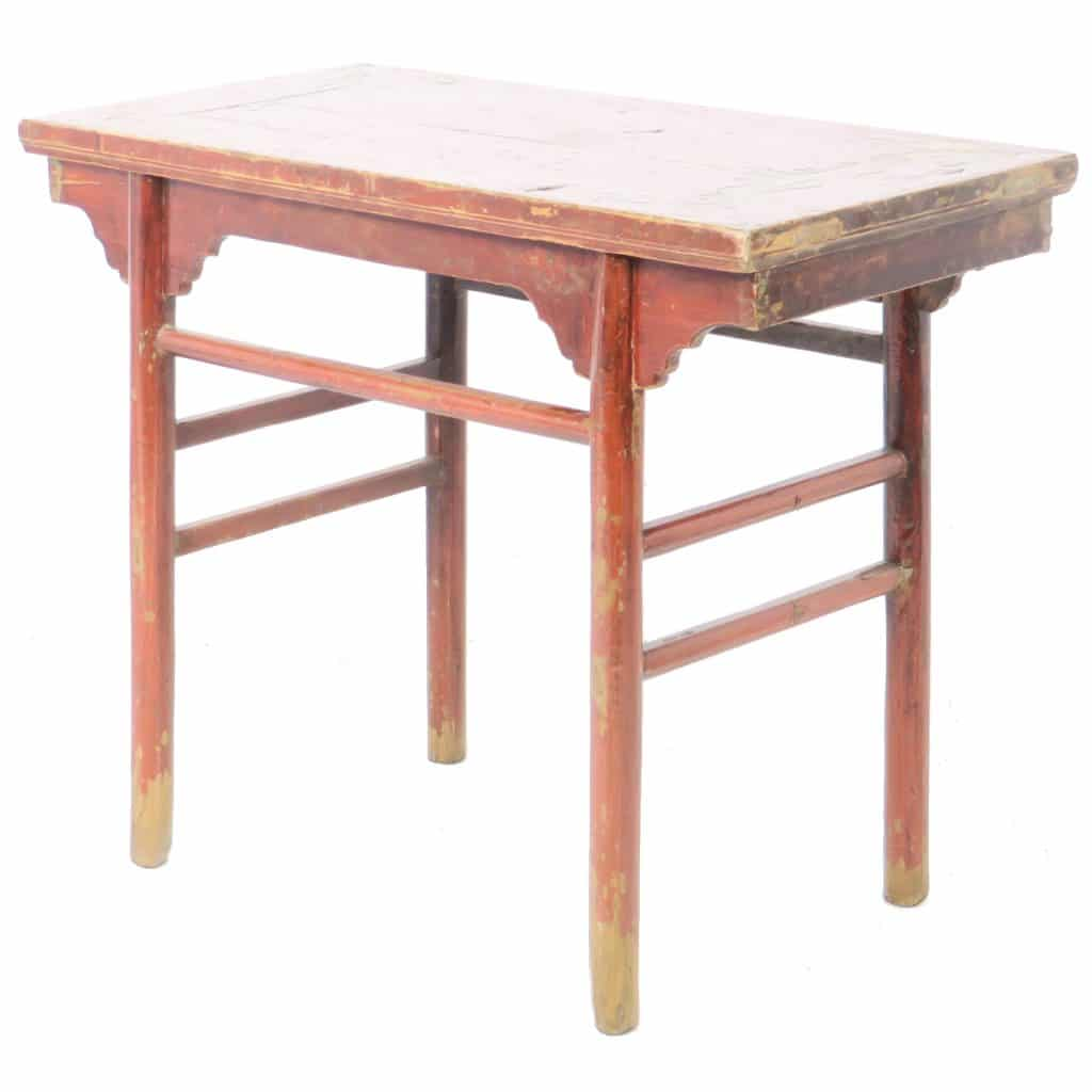 quality design c8fb8 7b8b8 Antique Chinese red Wine side Table. Small Asian accent table