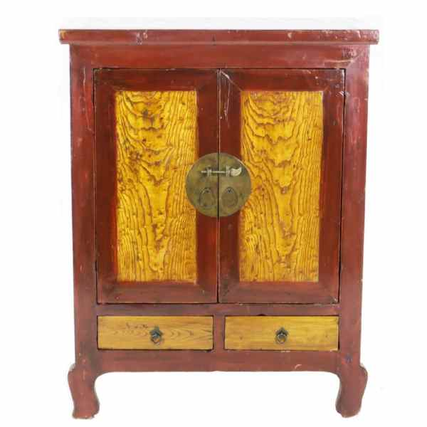 Antique Chinese Asian 2 Door Gansu Cabinet