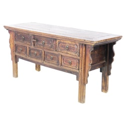 Antique Chinese 68 inch Long Console Sideboard Table
