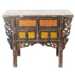 Antique Chinese 43 inch Long 3 Drawer Table Coffer