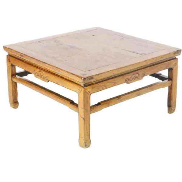 Antique Chinese 34 inch Square Coffee Kang Table