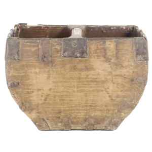 Antique Chinese Wood Rice Bucket Grain Measure 2