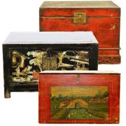 Antique Chinese Trunks and Boxes