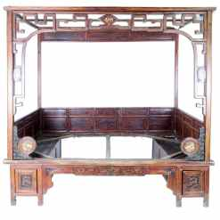 Antique Chinese Ningbo Wedding Opium Bed