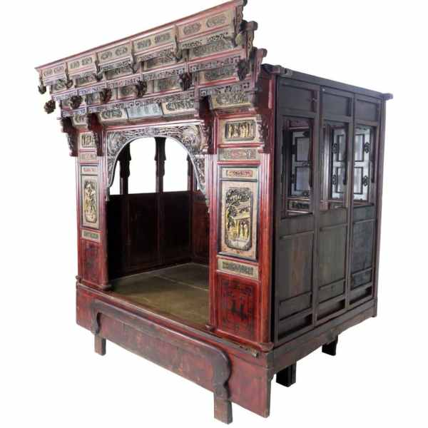 antique-chinese-wedding-canopy-bed-intricately-carved