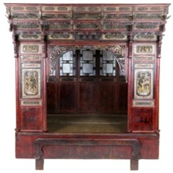 Antique Chinese Wedding Beds & Opium Beds