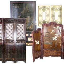 Antique Chinese Doors and Decorative Wall Screens