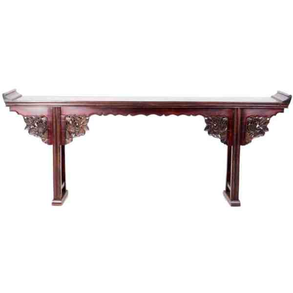 Antique Chinese 91 Inch Carved Altar Table