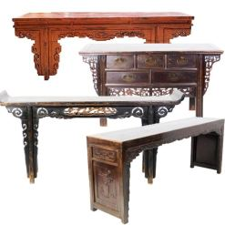 "Antique Chinese Altar, Sofa & Console Tables (55"" and Longer)"