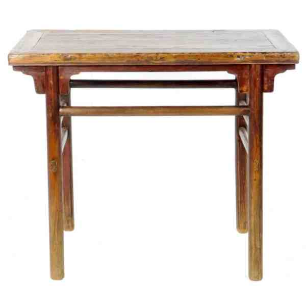 Antique Chinese Rustic Wine Hall Table 40 Inch Wide