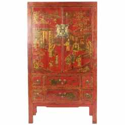 Chinese Red and Gold Wedding Cabinet