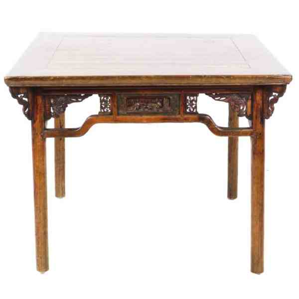 Antique Chinese 40 inch square Elm Table