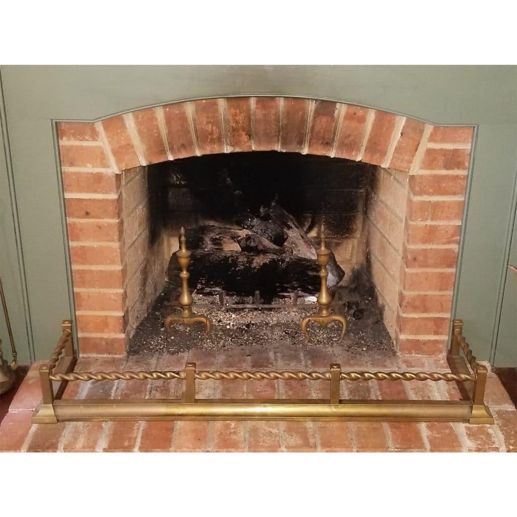 Vintage Victorian Brass Fireplace Fender 52 Inch