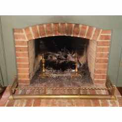Victorian Brass Fireplace Fender 52""