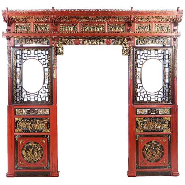 Chinese Wedding Bed Carved Front