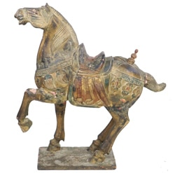 Large Carved Tang Horse 42 inch Tall