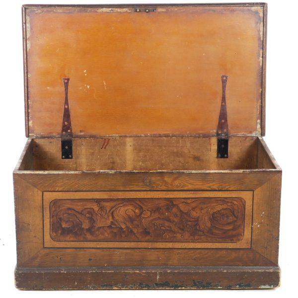 Circa 1800 Primitive Blanket Chest