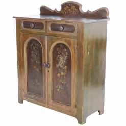 Antique Country Painted Jelly Cupboard