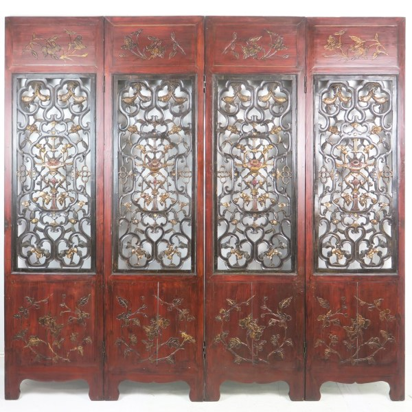 4 Carved Antique Chinese Doors