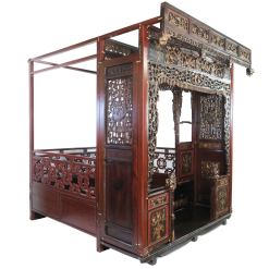 Antique Chinese Carved Wedding Bed