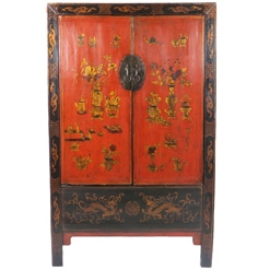 Antique Chinese Wardrobe Cabinet