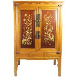 Antique Chinese Inlaid Wardrobe Cabinet