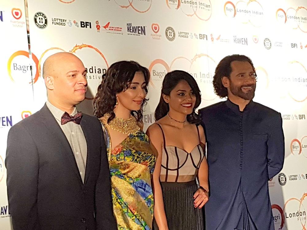 Guest with Feryna Wazheir, guest and Cary Rajinder Sawhney