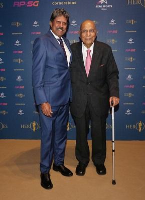 Kapil Devi (India cricket legend) and Swraj Paul (UK businesman)