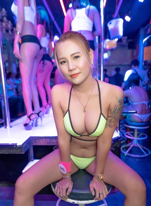 Bikini bargirl